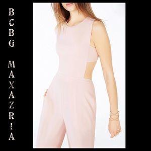 BCBGMaxAzria Rossana Cutout Back Jumpsuit Sz 6 NWT
